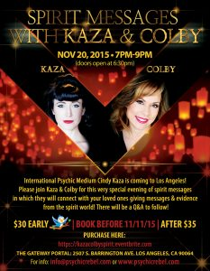 Kaza and Colby Spirit Messages