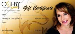 Psychic Rebel Gift Certificate