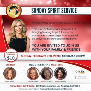 Sunday Spirit Service Los Angeles
